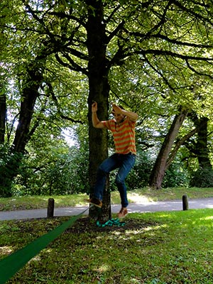 Jumping the Slackline